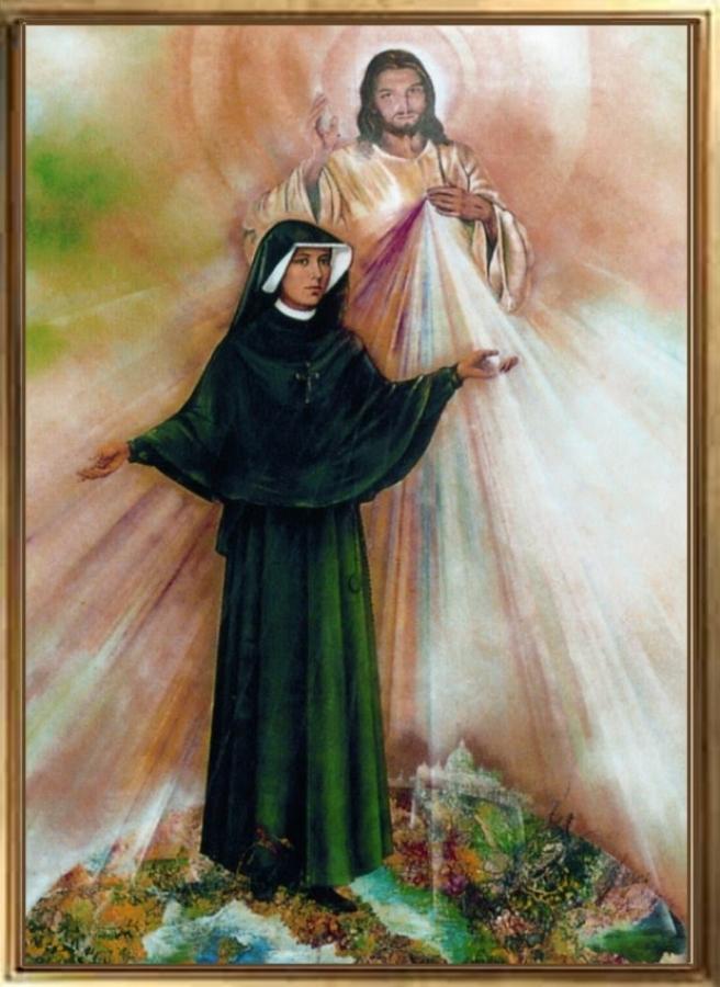 Gesu con suor Faustina